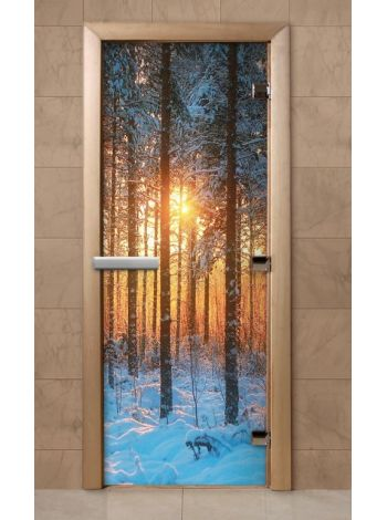 Дверь из стекла с фотопечатью 190*70 F235