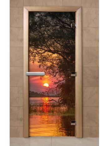 Дверь из стекла с фотопечатью 190*70 F240