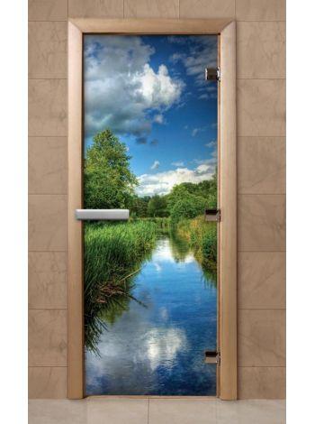 Дверь из стекла с фотопечатью 190*70 F242