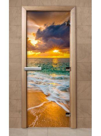 Дверь из стекла с фотопечатью 190*70 F245