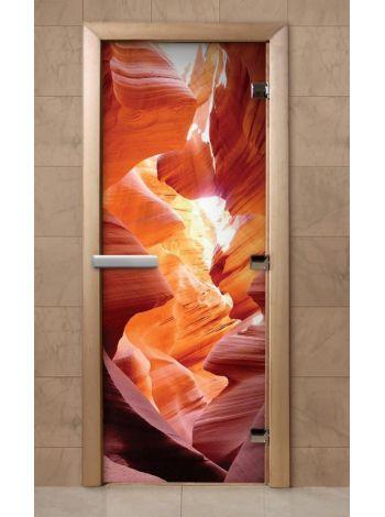 Дверь из стекла с фотопечатью 190*70 F252