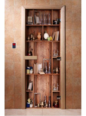 Стеклянная дверь для бани и сауны с фотопечатью 190*70 А006