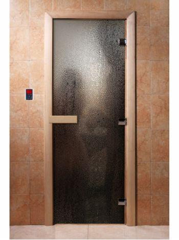 Стеклянная дверь для бани и сауны с фотопечатью 190*70 А010
