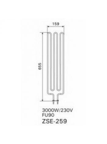 Тен 3,0 KW ZSE-259